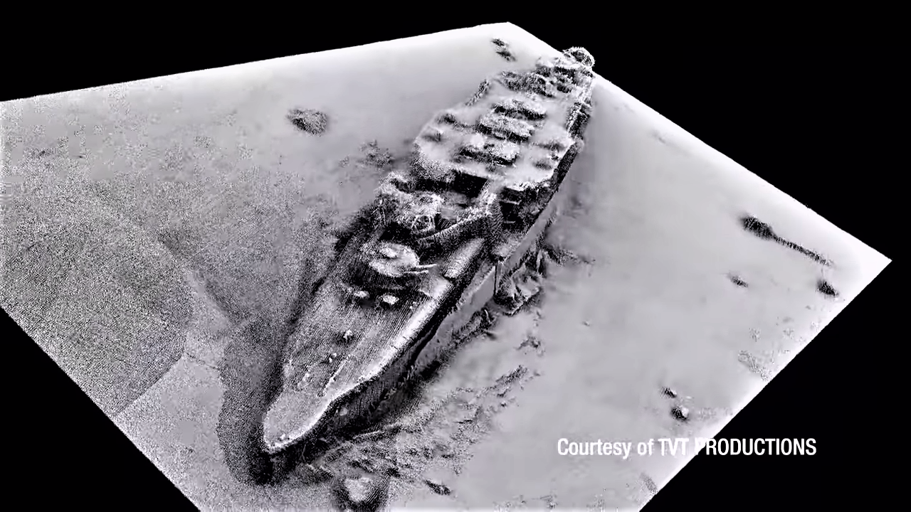 Wreck of the cruiser SMS Scharnhorst discovered, 2019.