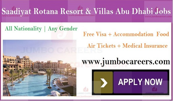 Hotel jobs openings in UAE, Current jobs in  UAE with salary and benefits,