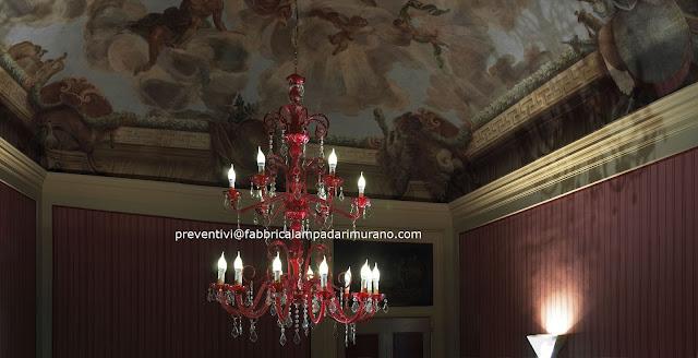 lampadario-di-murano-rosso-con-cristalli-swarovski-originali