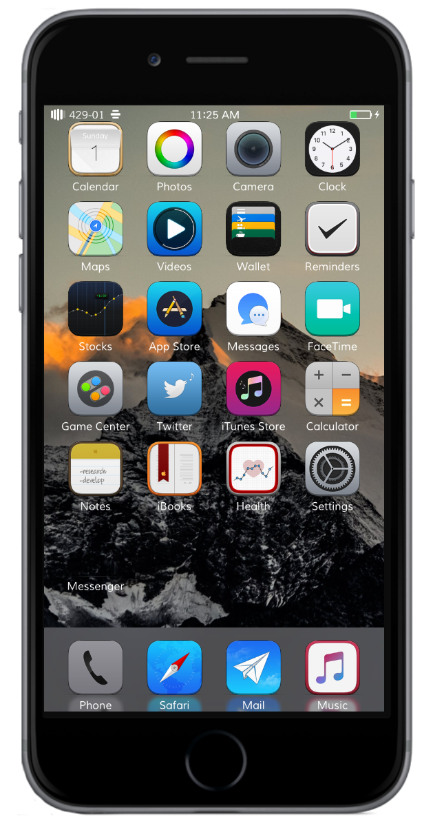 Download 24 Awesome iOS 9 themes for iPhone/iPad