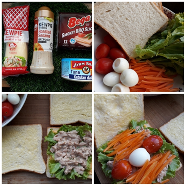 Gambar Bahan-bahan Wanpaku Sandwich