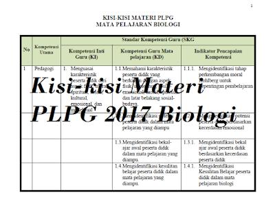 Materi PLPG 2017 Biologi