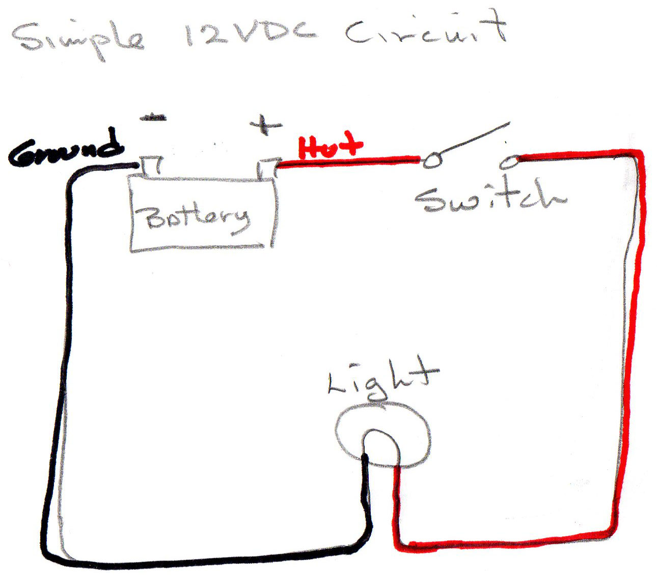 Barnacle Bill Holcombs Sailing January 2018 Red Wire Circuit Diagram A Simple 12vcd Uses For The Positive Hot Or Side Of And Black Ground