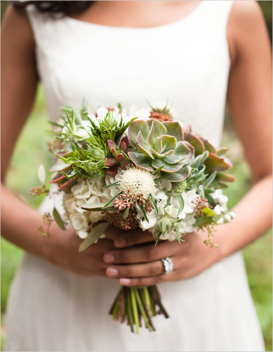 Greer Loves: Succulent Wedding: Floral Bouquets