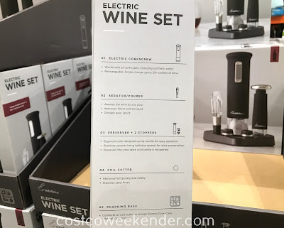 Rabbit Rechargeable Wine Opener Set: open, serve, preserve