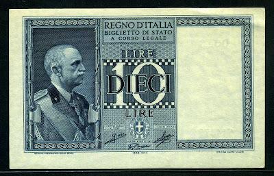 Italian currency money 10 lire