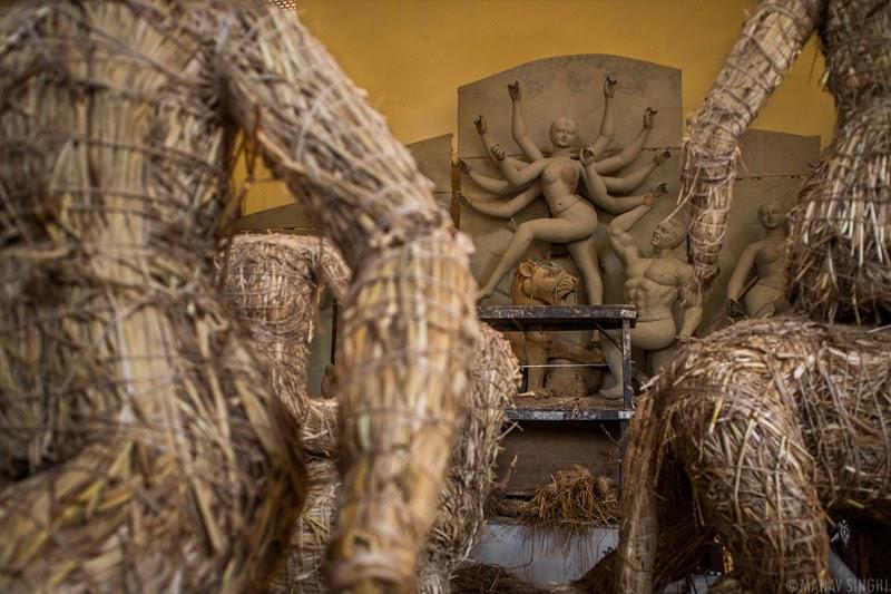Preparations for Durga Puja