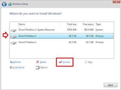Cara Install Windows 10 - Membagi Partisi
