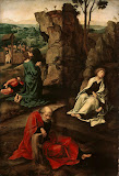Agony in the Garden by Pieter Coecke van Aelst - Religious Paintings from Hermitage Museum