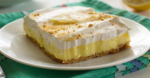 Lemon Cheesecake Pudding Dessert Recipe