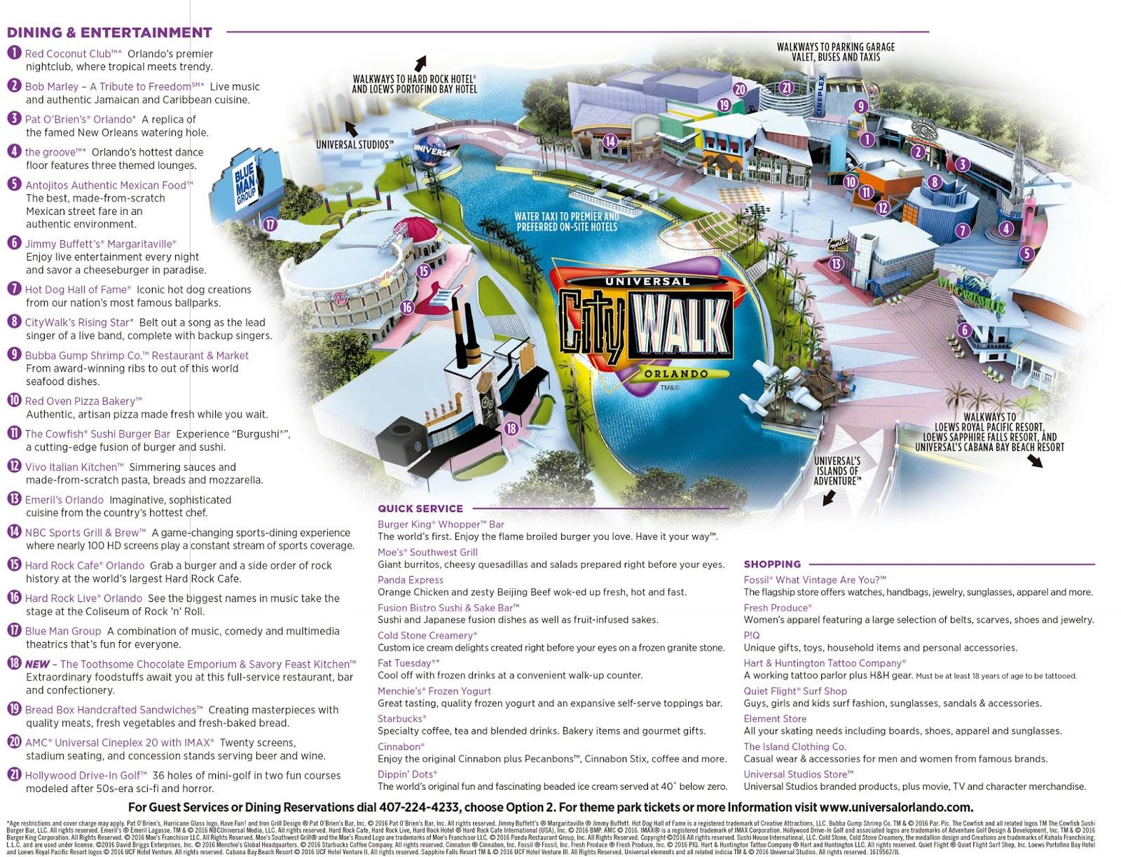 Mapa CityWalk
