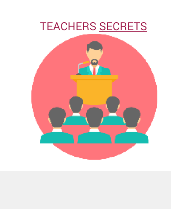 Top secret for teachers