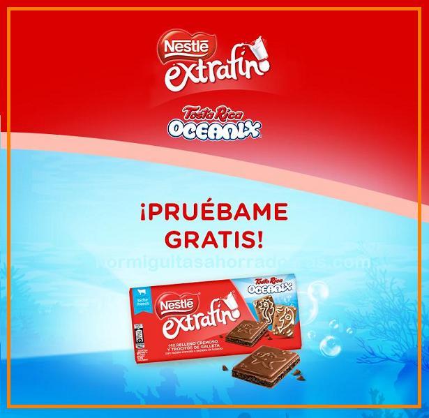 Prueba gratis chocolate Nestlé Oceanix