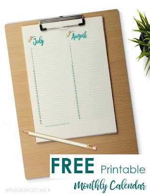 This calendar can be used year after year to keep track of all those birthdays and special dates!