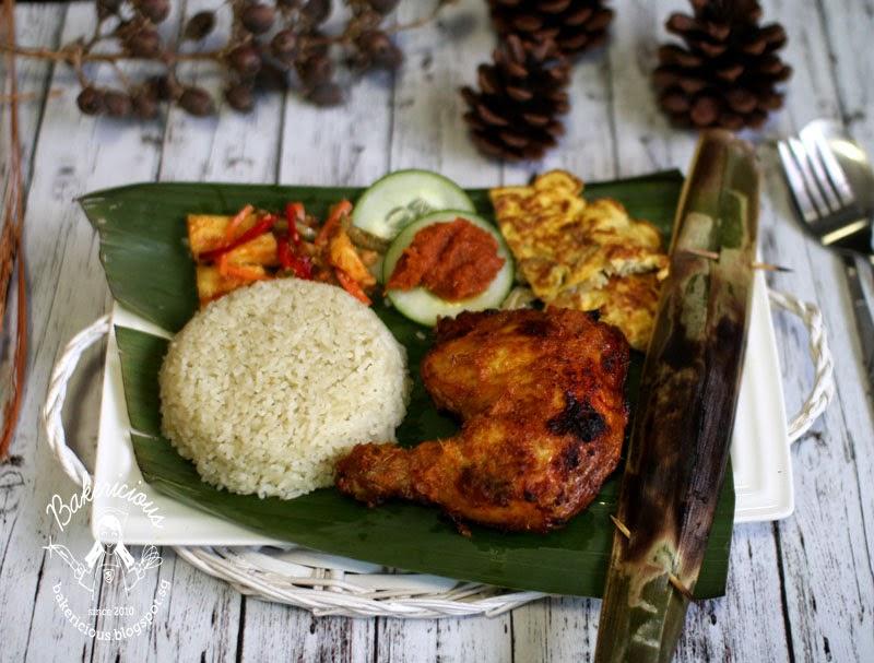 Bakericious: Nasi Lemak Coconut Rice with Ayam Percik