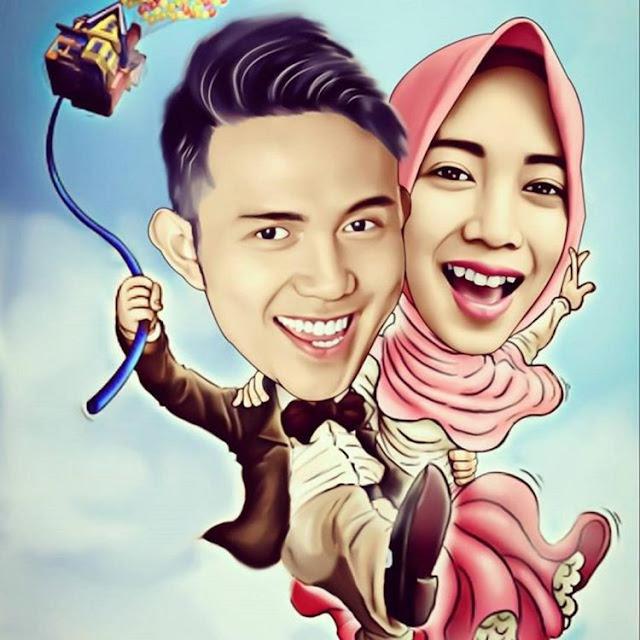 gambar karikatur pernikahan