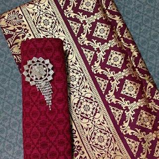 Kain Batik dan Embos 662 Prada Maroon
