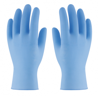 Par de guantes azules