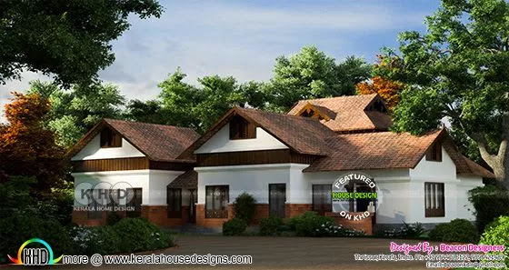 Kerala traditional tharavadu model house