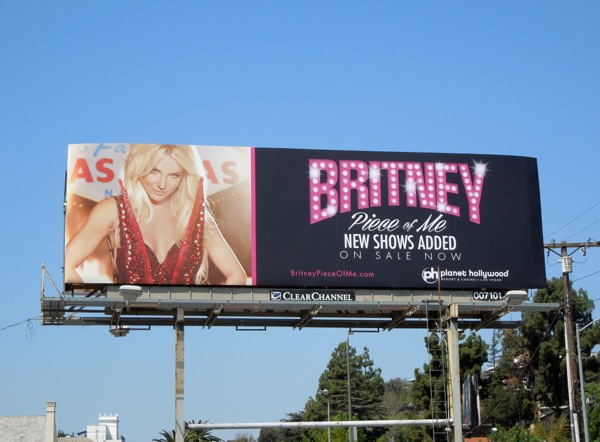 Britney Spears Piece of Me 2014 billboard