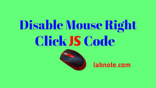 Disable Mouse Right Click