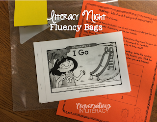 Family Literacy Night Camping Theme Fluency Bags