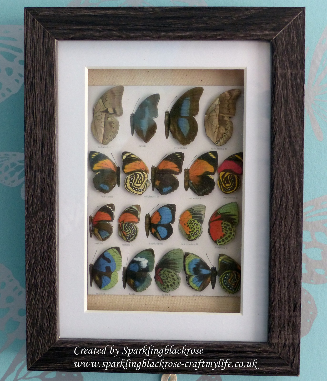 Craft my life: Vintage Butterfly 3D Box Frame Art