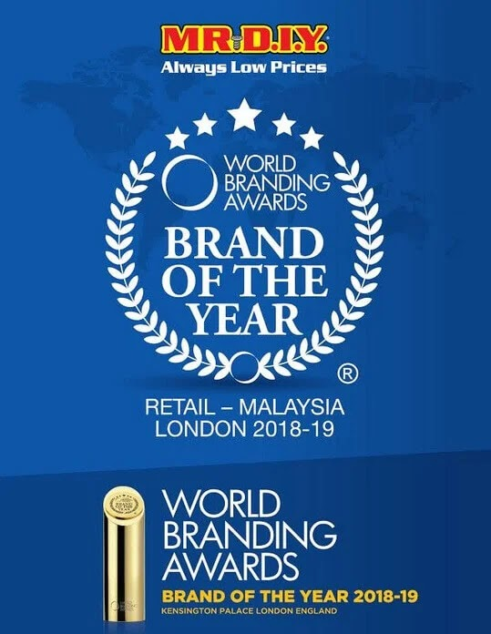 Malaysia's Mr. DIY Awarded as Brand of the Year