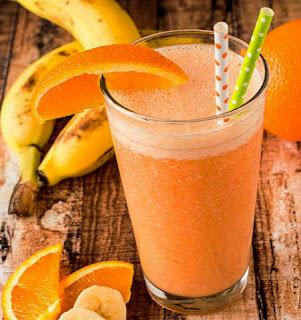 resep cara membuat jus jeruk pisang yang enak