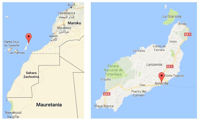 Lanzarote, Wyspy Kanaryjskie, autostop, arrecife