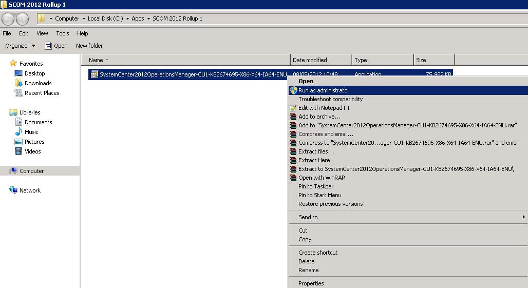 Kevin Greene IT Blog: SCOM 2012 - Deploying Cumulative Update Rollup