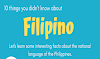 10 Interesting Facts About the Filipino Language #infographic