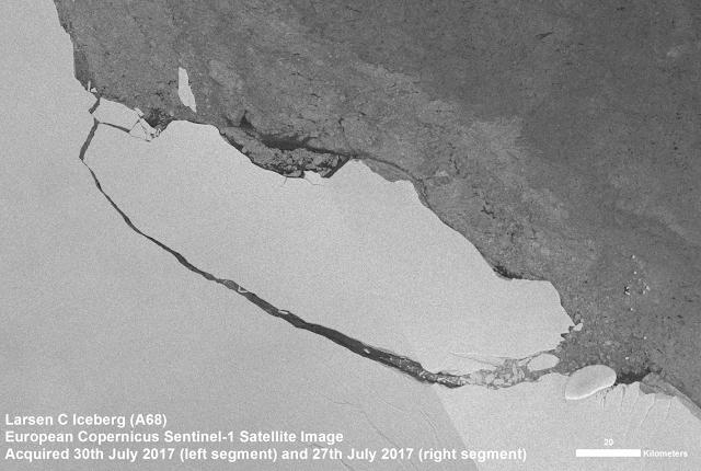 Tracking the giant Antarctic iceberg