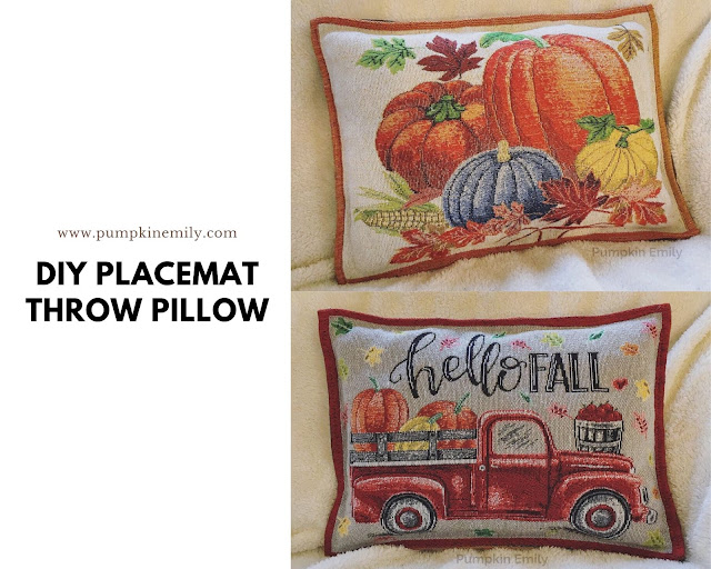 DIY Placemat Throw Pillow