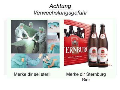 Lustig Achtung Verwechslungsgefahr Bier