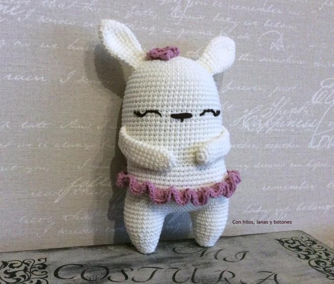 Con hilos, lanas y botones: Ballerina Bunny Amigurumi