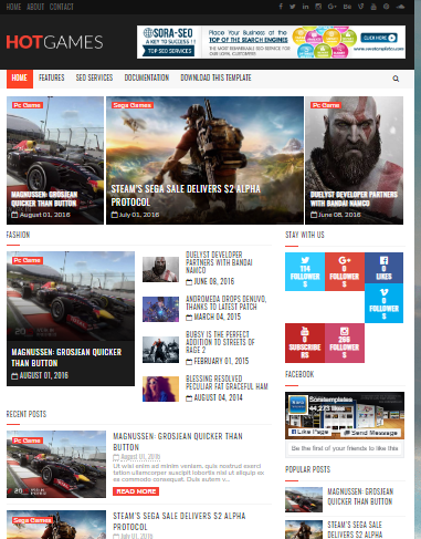 Blogger theme for gaming website free download