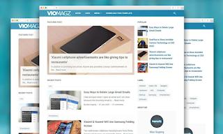 Premium Blogger Template VioMagz version 4.3.0