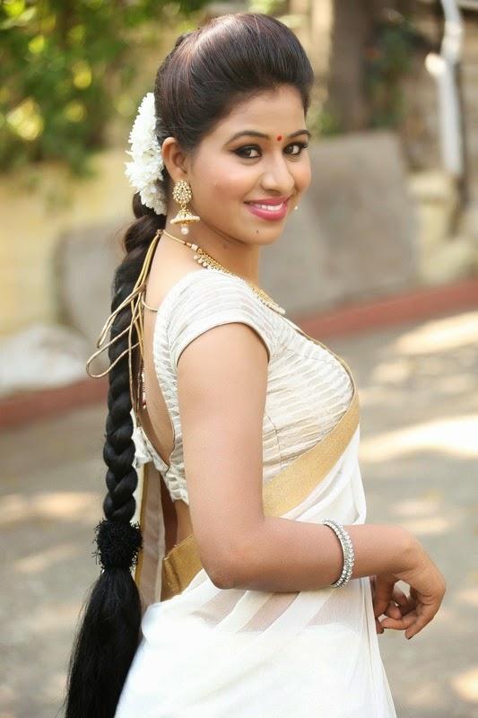 Manali Rathod In Sexy Saree Stills