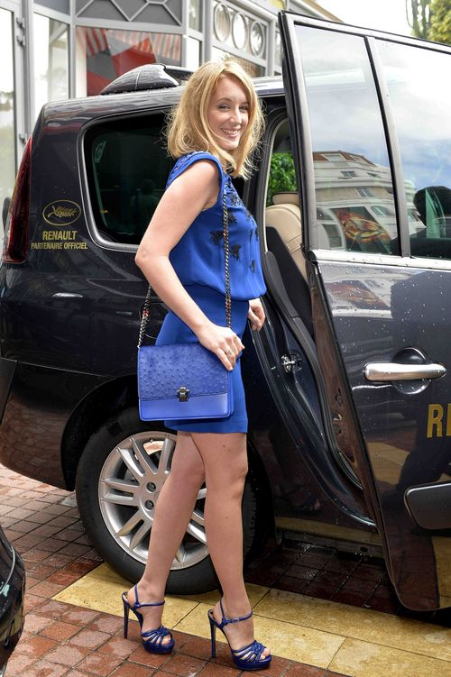 Ludivine Sagnier total look in Blu a Cannes (by Roberto Cavallli)
