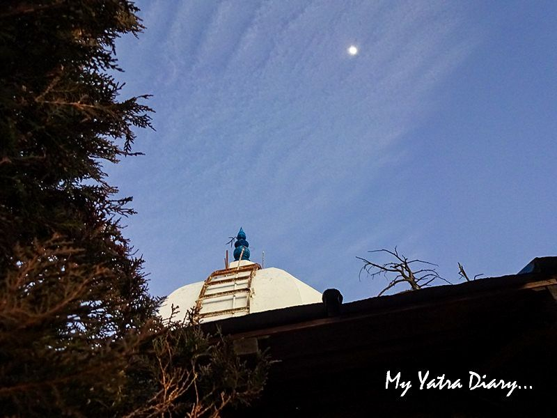 Moon lit night above Mukteshwar Temple, Uttarakhand