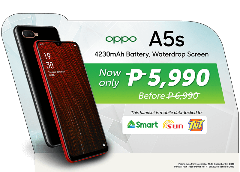 Smart offers OPPO A5s LTE phone with exclusive price of PHP 5,990
