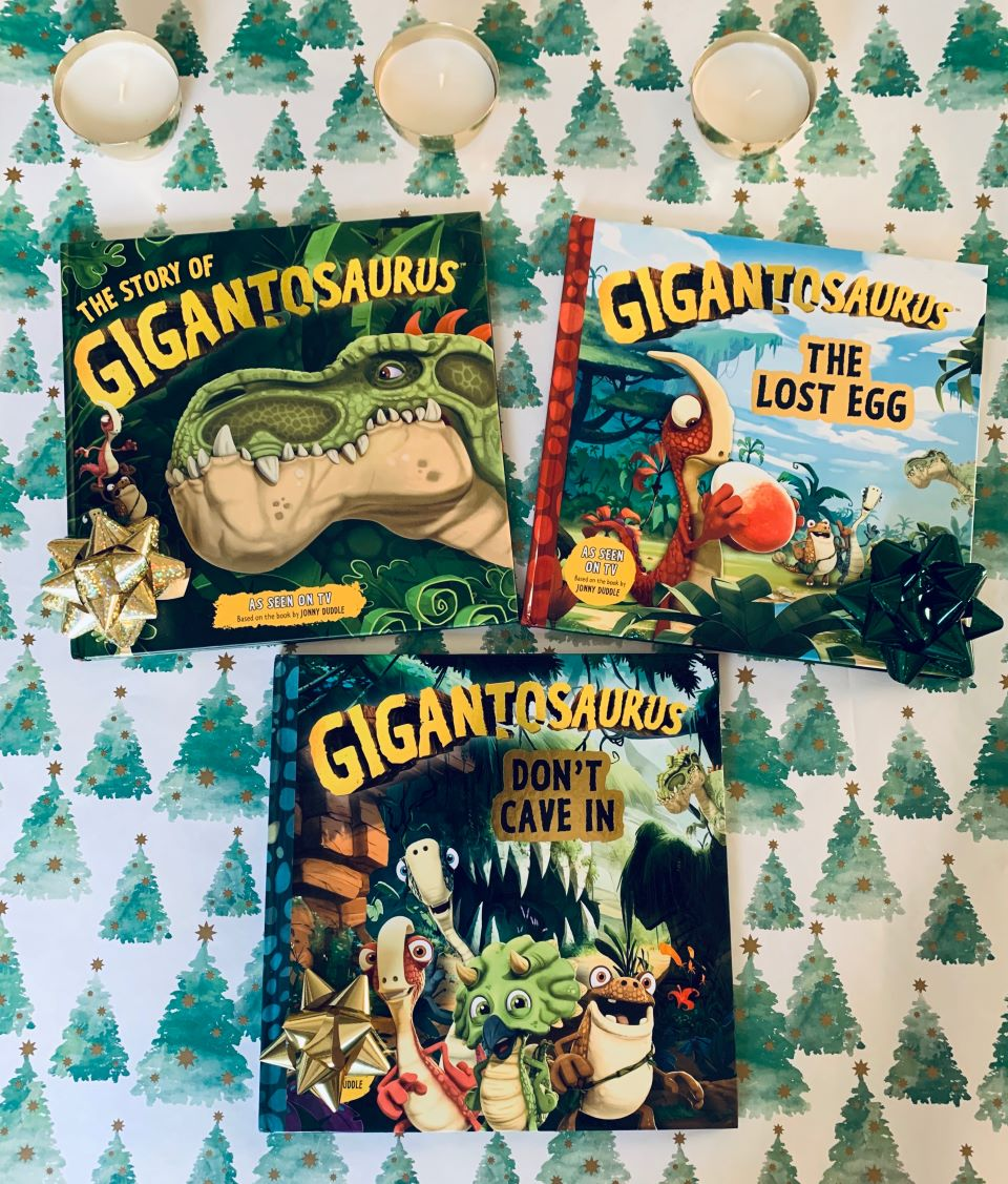 Gigantosaurus books holiday gift ideas