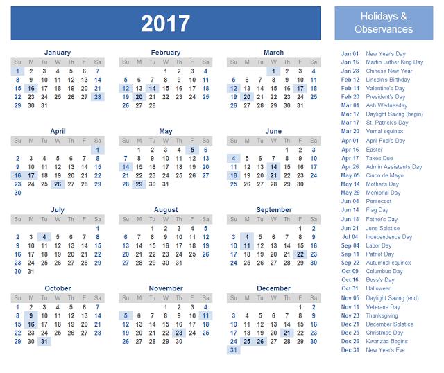 2017 Printable Calendar, 2017 Calendar Printable, 2017 Holiday Calendar, 2017 Blank Calendar, 2017 Printable Calendar, 2017 Calendar, Print Calendar 2017 , 2017 Calendar Templates