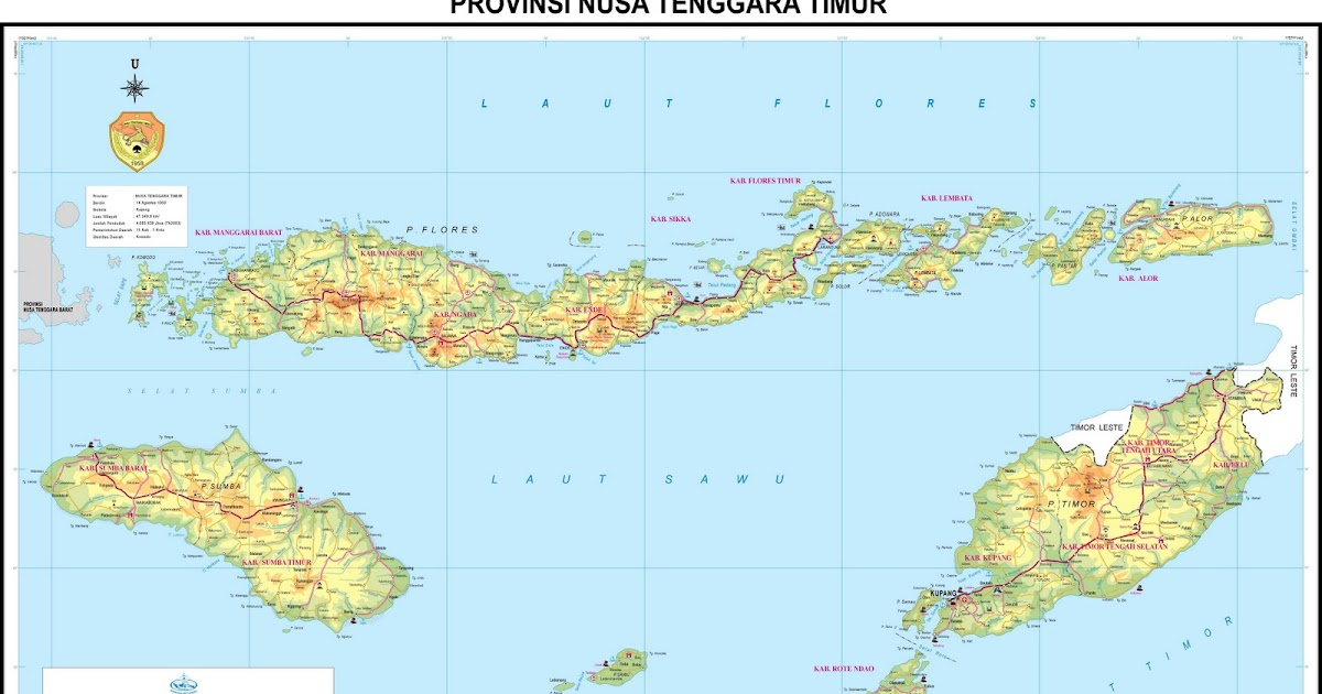 peta kota peta provinsi nusa tenggara timur