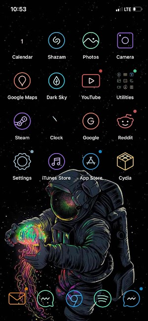 اداة ColorBadges جلبريك 13.2 IOS لتلوين الاشعارات