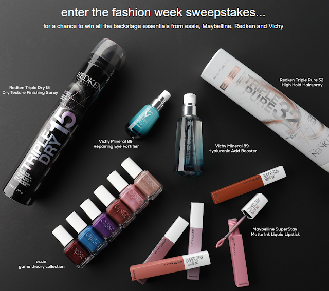 You can enter once for your chance to be one of five lucky winners who will score nearly $200 in beauty essentials from Redken, essie, Maybelline and more!
