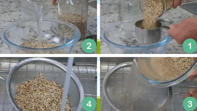 Measure the amount of quinoa