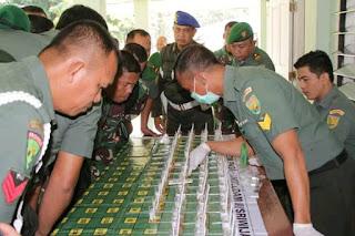 Sosialisasi P4GN Dan Uji Petik Narkoba Terhadap Prajurit  Rindam II/Swj