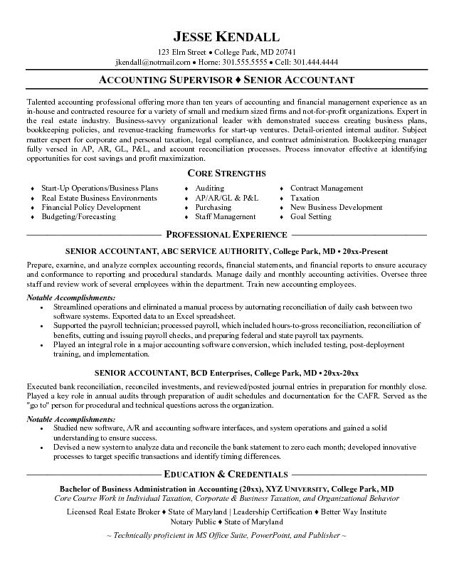 chartered accountant resume format – Accountant Resumes